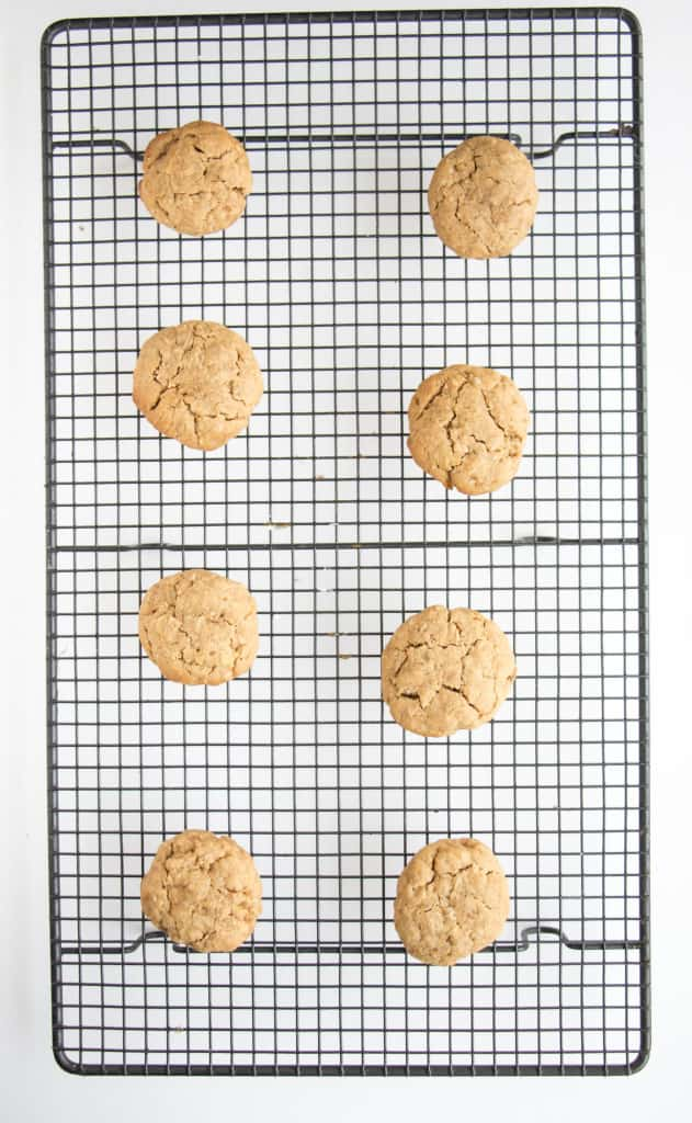 Sugar-free peanut butter chewy oat cookies