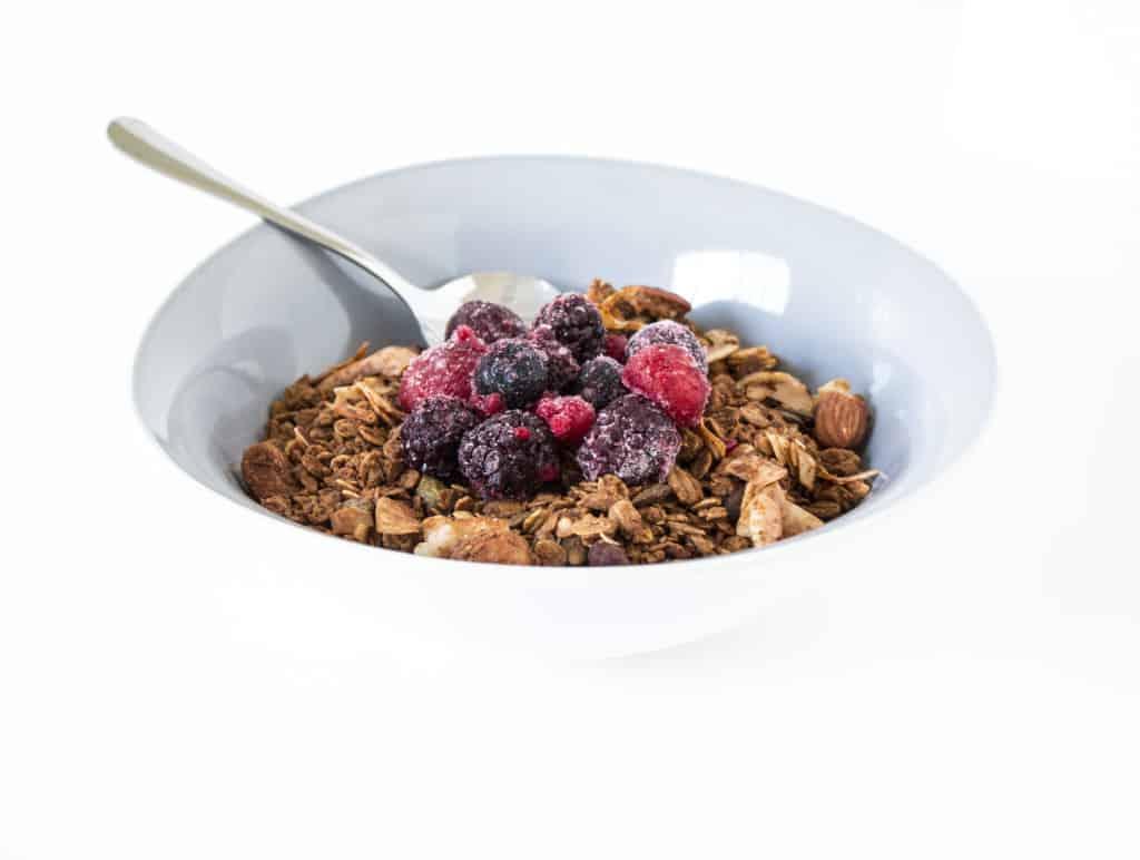 Healthy Nutty Vanilla Granola, sugar free, gluten free, vegan
