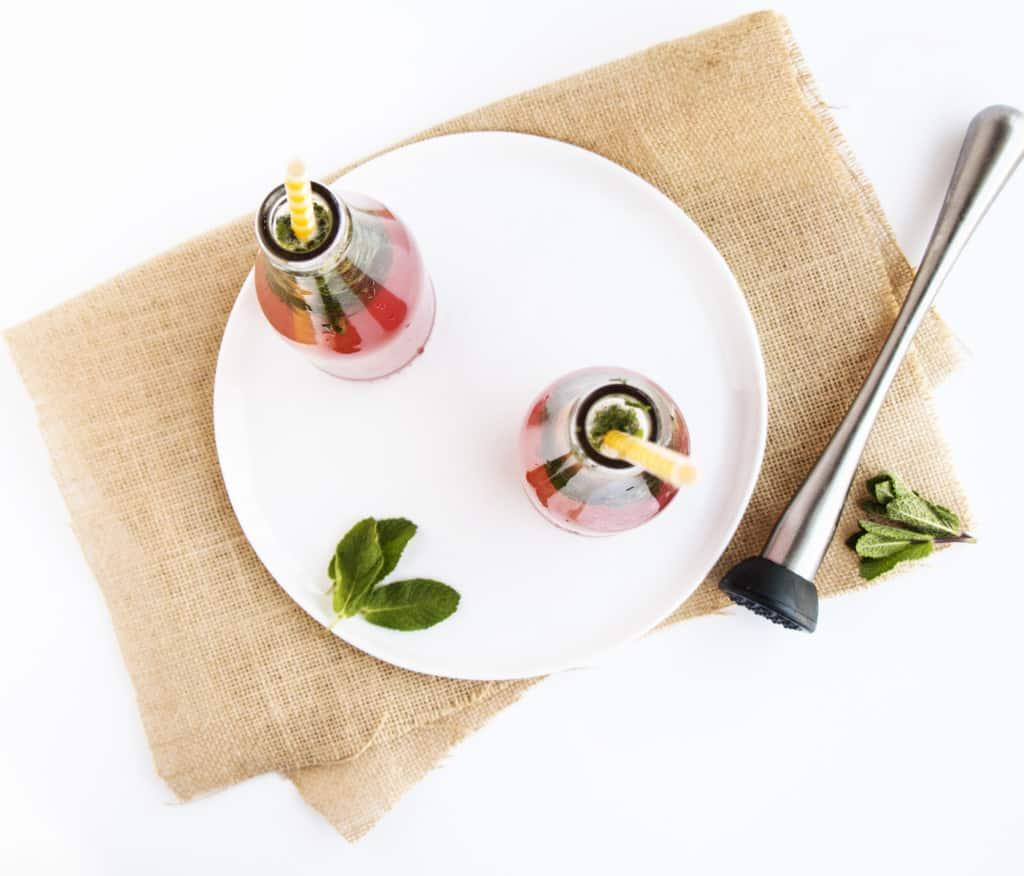 Quick & Healthy Cranberry Mojitos