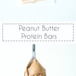 Peanut Butter Protein Bars, Perfect as a post workout snack.