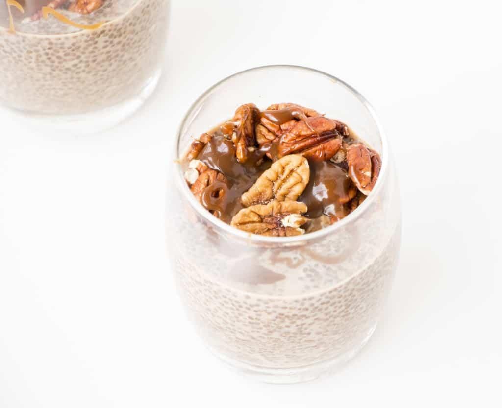 Salted Caramel & Pecan Chia Pudding