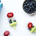 Healthy Coconut Berry Popsicles