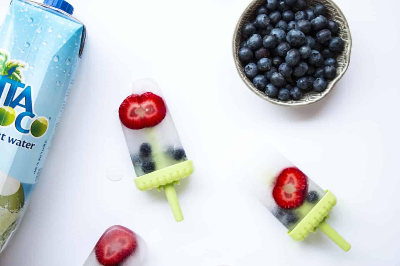 Coconut Berry Popsicles