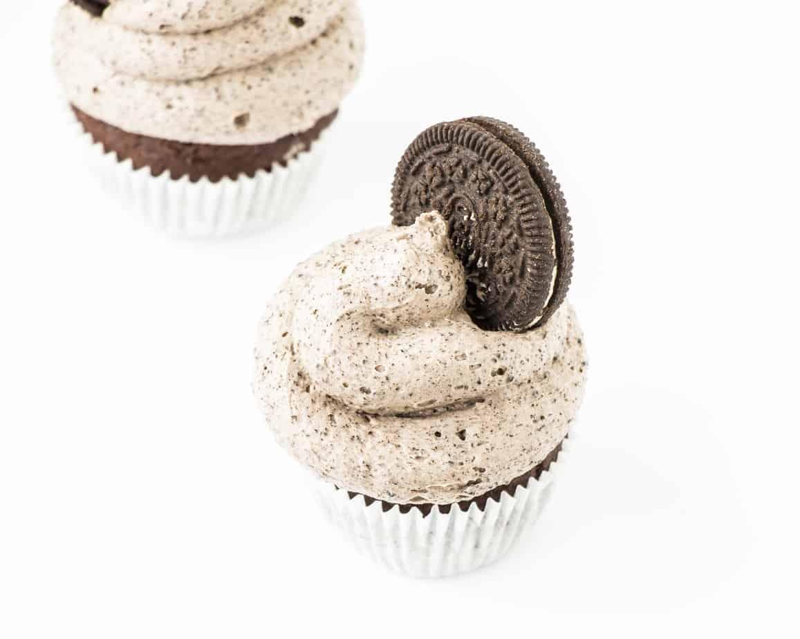 Double Chocolate Oreo Cupcakes