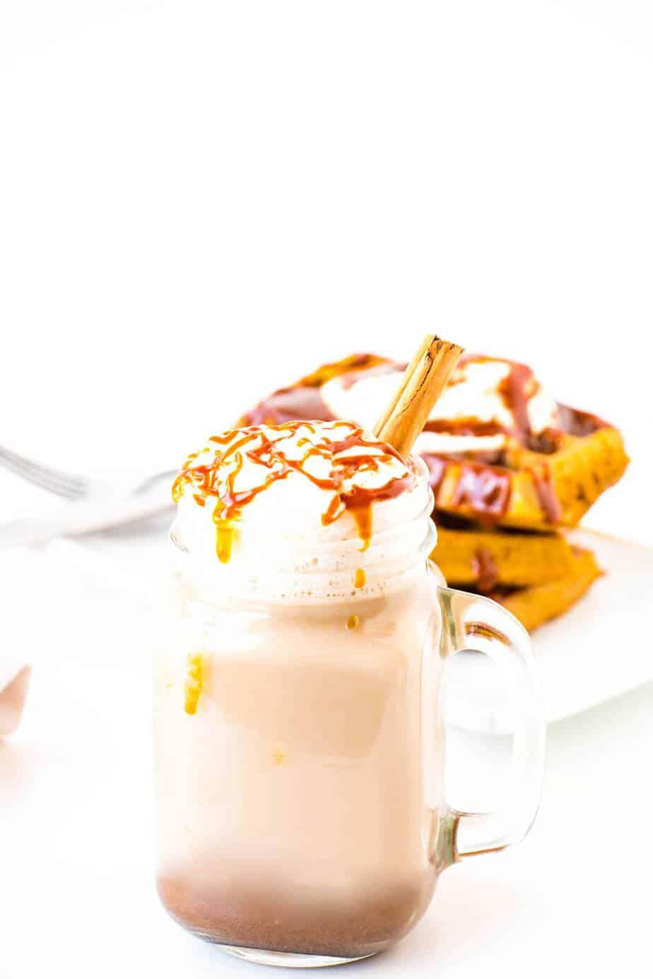 Salted Caramel Pumpkin Spice Latte - Baking-Ginger