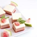 3 Layer Watermelon Gelatin Cubes