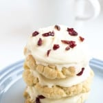 White Chocolate & Cranberry Sugar Cookies - A quick and easy cookie recipe that looks beautiful and tastes delicious.