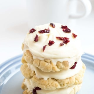 White Chocolate & Cranberry Sugar Cookies
