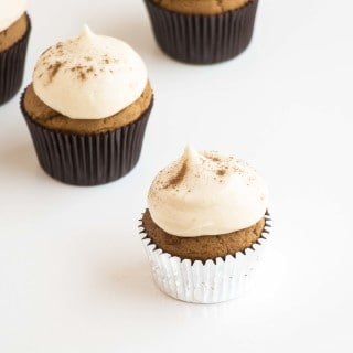 Fluffy Gingerbread Cupcakes with Cream Cheese Frosting