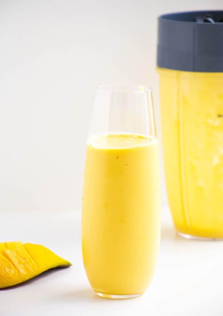 Greek Yoghurt Mango Smoothie - A delicious refreshing breakfast smoothie recipe with a vegan option