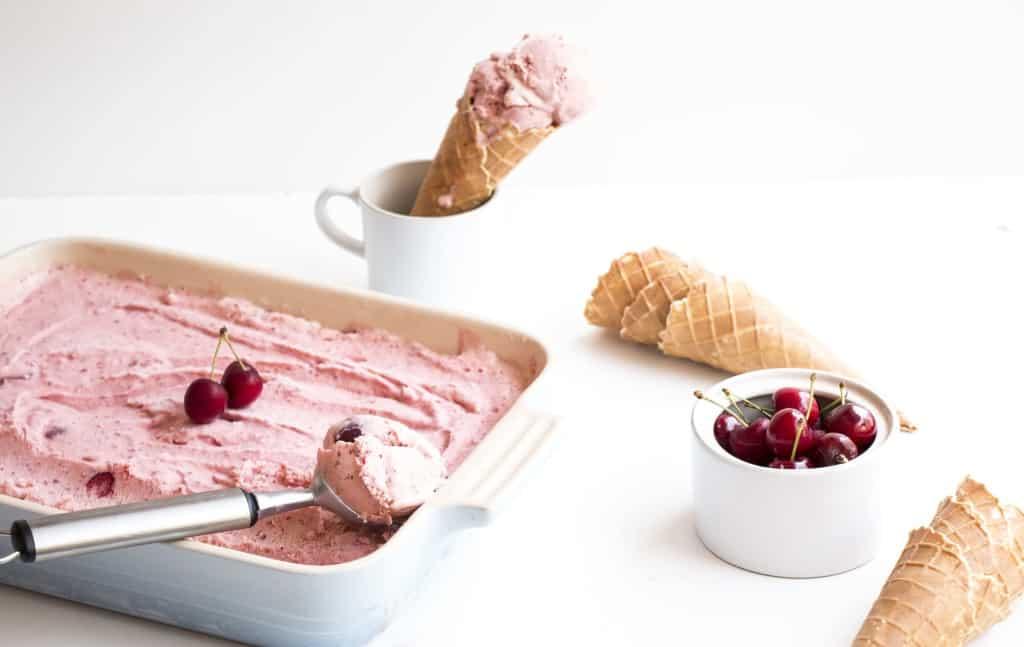 Creamy Homemade Cherry Ice Cream - A delicious, easy to make homemade ice cream recipe.