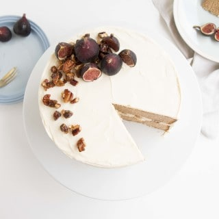 Earl Grey & Fig Cake with a Nutty Fig Filling
