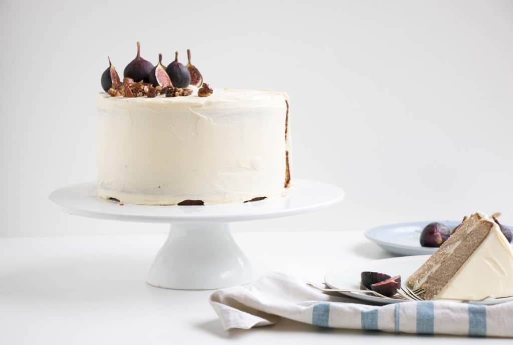 Earl Grey & Fig Cake with a Nutty Fig Filling and Cream Cheese Frosting - The softest and most delicate cake that compliments any event or even simply with a good cup of tea.
