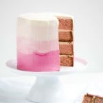 Champagne Ombre Cake with Soft Italian Meringue Buttercream