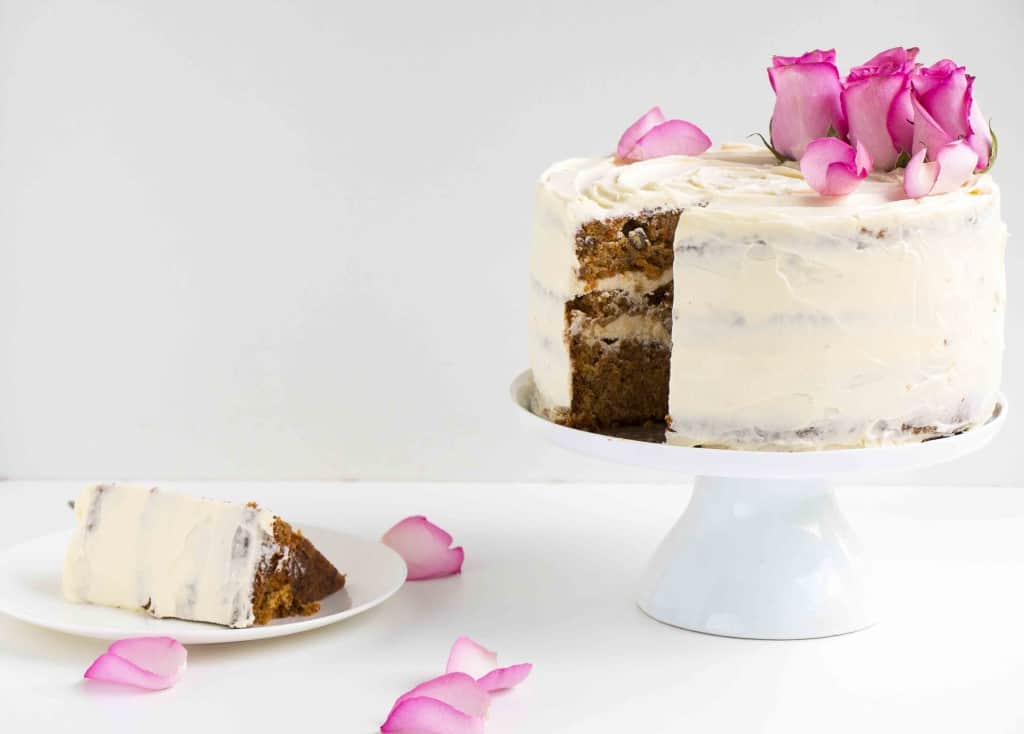 The Best Carrot Cake Recipe Ever - A delicious, easy to make moist, spicy and creamy recipe. The perfect recipe for Easter.