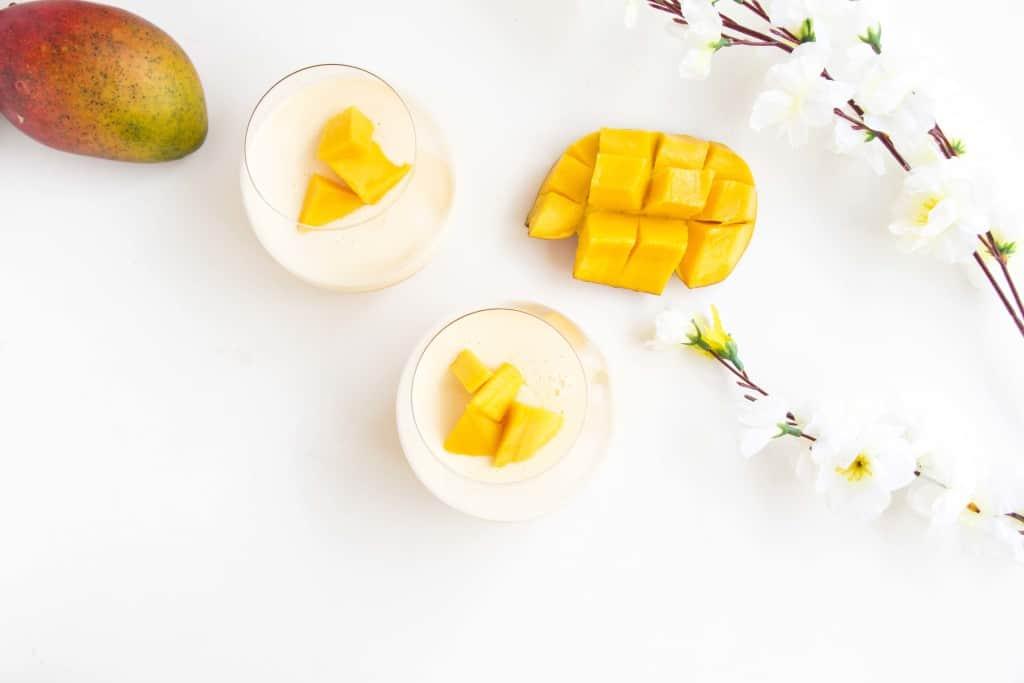 Refreshing Mango Panna cotta - A simple, beautiful dessert that tastes like summer in a glass.