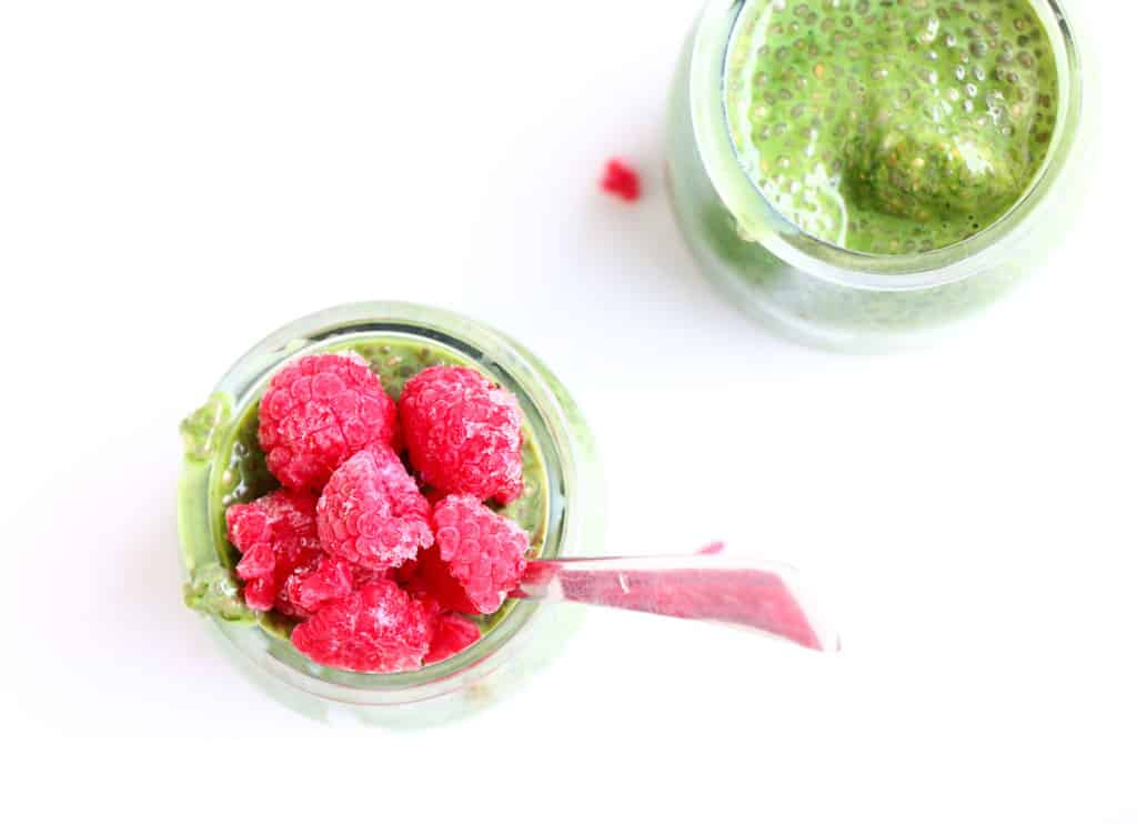 Matcha and Raspberry Chia Pudding - The perfect breakfast, packed with protein and antioxidants. Plus it is gluten-free, vegan and simply delicious.