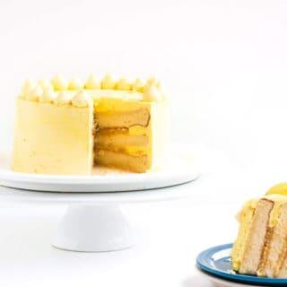 Zesty Lemon Cake with Lemon Meringue Buttercream