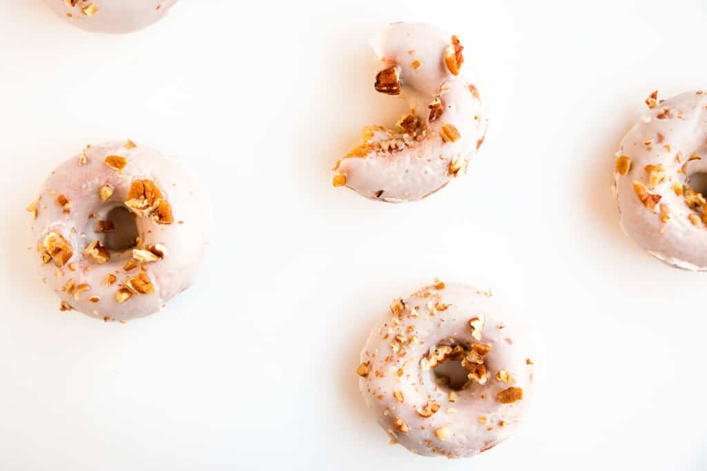 Baked Carrot Cake Donuts with Cream Cheese Glaze - Soft, moist donuts that taste exactly like a delicious slice of your favourite carrot cake.