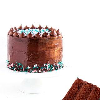 Dark Chocolate Sprinkle Cake