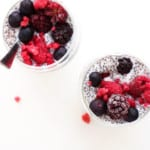 Simple Berry Chia Pudding - A delicious, easy to make breakfast that is packed with protein. Completely gluten-free and vegan. Everything you could ever want from an on the go breakfast.