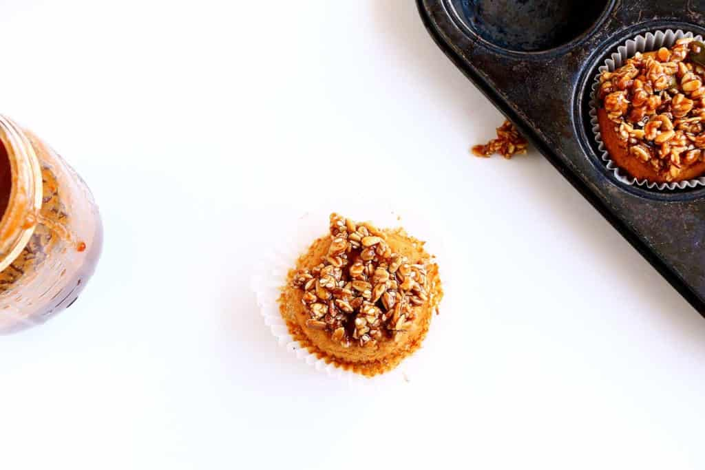 Salted Caramel Banana Bread Muffins - Vegan, gluten free and refined sugar free muffins that are simply delicious and decadent.