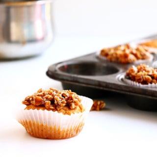 Salted Caramel Banana Bread Muffins