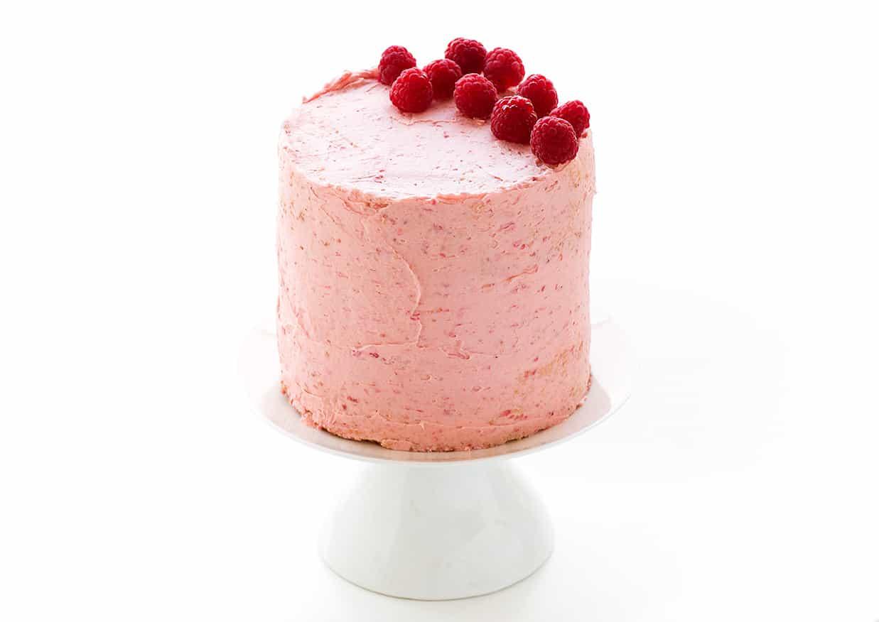 Raspberry And Vanilla Buttercream Filled Cake