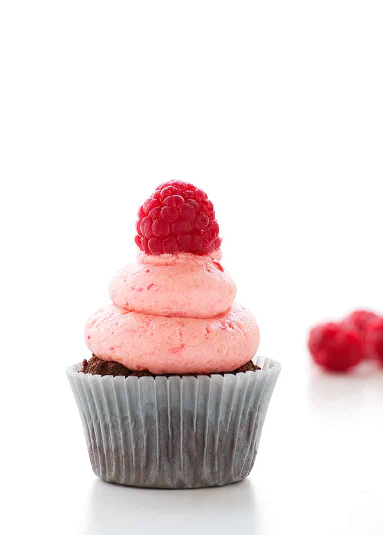 Healthy Chocolate and Raspberry Cupcakes